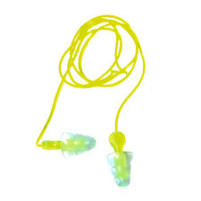 Tri Flange Reusable Ear Plugs With Cord Pair