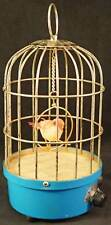 Vintage Music Antique Finish Chirping Bird Automation Birdcage Made in Japan