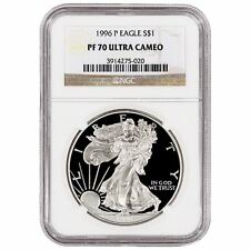 1996-P US Mint $1 American Silver Eagle 1 oz Silver Proof | Graded NGC PF-70
