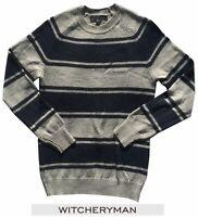 Men's Sweater WITCHERYMAN Striped Sz Small