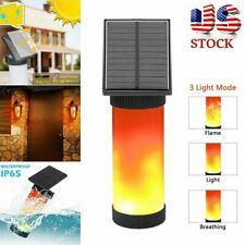 New listing Solar Power Led Flame Light Garden Flickering Fire Torch Wall Lamp Waterproof Us