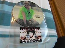 """NO2 MADONNA BYE BYE BABY REMIX DUBPLATE 7"""" PICTURE DISC TEST PRESSING"""