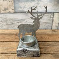 Rudolph Stag Reindeer Antlers Deers Head Christmas Tea Light Candle Holder Gift