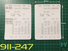 AUDI Stile 2 VIN dati Bonnet Hood manutenzione LIBRO etichette adesivi