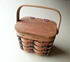 Boyds Bear Paw mark Mini Picnic Basket