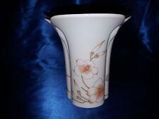 Porzellanvase . Vase Arzberg Porzellan  weiss mit Blumenmuster