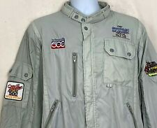Vtg 1987 Chrysler Motors Indy 500 Windbreaker Coat Le Baron Pace Car Gray Patch