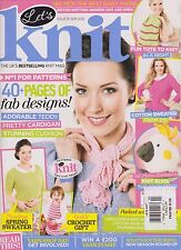 LET'S KNIT #91 MAY 2014, THE UK'S BESTSELLING KNIT MAGAZINE, YARN KIT MISSING.