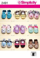 Patrón de costura simplicidad 2491 Bay Zapatos Talla Xs, S, M, L