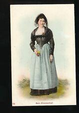 Switzerland BERN Simmenthal traditional dress fashion costume c1900/10s? PPC