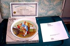 """Vintage 1982 Norman Rockwell Knowles Collector Plate""""The Cookie Tasting"""" Coa Box"""