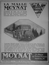PUBLICITÉ 1927 LA MALLE MOYNAT RECOUVERT DE TOILE CUIR OU LAQUÉE - ADVERTISING