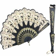 Folding Hand Decoration Lace Silk Dance Fan Art Crafts Wedding Spanish Style