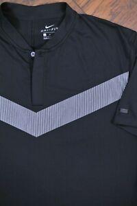 Nike Golf Dri-Fit Tiger Woods Blade Polo Shirt Black Men's Large L