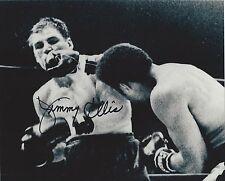 JIMMY ELLIS vs JERRY QUARRY SIGNED 8X10 PHOTO BOXING PICTURE AUTOGRAPHED
