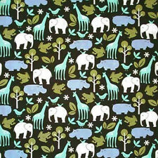 Zoology Cotton Voile Fabric Michael Miller Brown Cotton 56 Wide  BFab