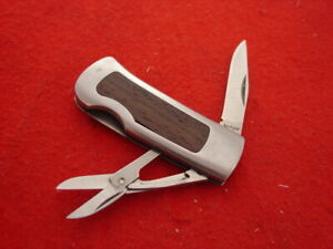 "Kershaw Made in Japan 2-3/8"" 2160 Scissors 2 Blade Money Clip Knife"