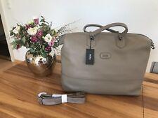 343fac25b2d12 Hugo Boss Weekender Business Tasche Manfredy aus MedBeige Leder für Herren