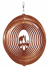 SWEN Products COWBOY CROSS Swirly Metal Wind Spinner