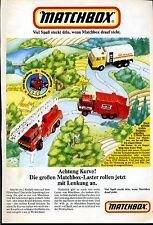 Matchbox-Achtung Kurve-Matchboxlaster mit Lenkung  -Werbung von 1986