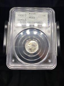1964 D Roosevelt Dime PCGS Doily Sample Slab - No Reserve