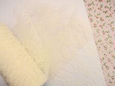 """10 yard Non-Elastic 6"""" Wide Floral Lace Trim/Ribbon/Craft/Sewing/Tool T133-Ivory"""