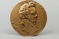 Bronze Medaille - Schubert 1797-1828 - Huguenin Gedenkmedaille - Komponist