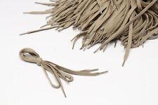 "Beige Shoelaces One Pair 30"" Casual Sneaker  5/16"" Flat Woven Cotton Shoe Laces"