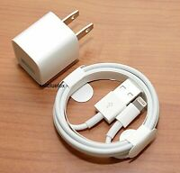 iPhone charger USB cable & wall cube for  IPHONE 5 , 6, 6+ 7, 7+ ,8, X, XR ,