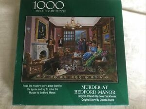 Murder At Bedford Manor 20 X 27 1000 piece Puzzle - Used