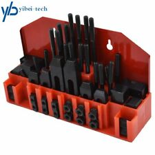 "58 Pc Pro-Series 7/16"" T-Slot Clamping Kit Mill Set Up Set 3/8-16"