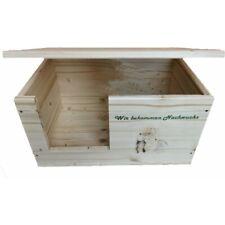 Kaninchen Hasen Wurfbox mit Holzlasur, Aufklappbar und Motiv