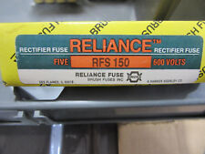 (5) Reliance RFS150 Rectifier Fuses 150A 600V NEW!!! with Free Shipping