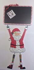 "SANTA COUNTDOWN CHALKBOARD CHRISTMAS ORNAMENT with Chalk, 12.5"" Tall"