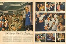 1943 WW2 article Life Visits the Stage Door Canteen 2 pages of Photos 030317