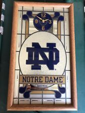 "Notre Dame Fighting Irish /""Leprechaun/""  15/"" Double Ring Neon Wall Clock"