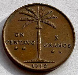 DOMINICAN REPUBLIC 1  CENTAVO 1942