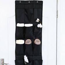12 Pockets Over Door Hanging Bag Box Shoe Rack Hanger Storage Tidy Organizer UK