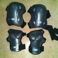 Rollerblade Hyper Silver Gear 2 Knee, 2 Wrist Pads/Guards/Large(Preowne d)