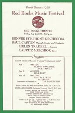 1950 Red Rocks Music Festival Program - Denver Symphony Orchestra, Denver, Co