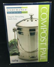 RSVP Compost Pail New Box 053796102960 International Stainless Steel Endurance