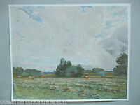 ANTIQUE PRINT C1906 THE AFTERMATH FROM OIL PAINTING BY ALFRED EAST VINTAGE ART