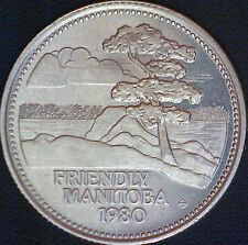 1980 Friendly Manitoba Red River Dollar Coin