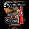 Biker PinUp Custom Harley-Oldtimer-Bike-Motiv Motorrad T-Shirt  *4319 bl.