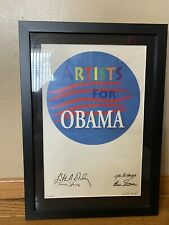 Artists For Obama Framed Print #'d 32/100 Signed By 5 Artists Extremely Rare