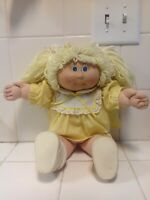 Cabbage Patch Kids Yellow Hair 1978-82 Made In Hong Kong by Coleco Industries