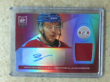 13-14 Panini Totally Certified Rookie Jersey Auto Red Ruby NATHAN BEAULIEU /25
