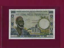 West African States IVORY COAST 5000 Francs 1959 - 65 P-104Ah XF RARE