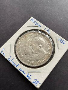 "1936 Philippines 1 peso ""Establishment of the Commonwealth"" Sea Salvaged"