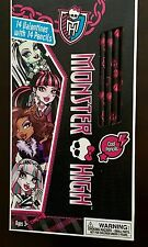 Monster High Valentine's Cards Valentine NEW With Pencils